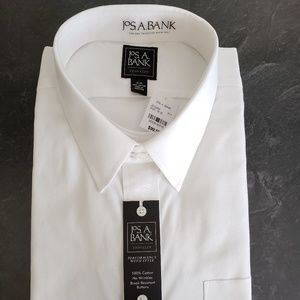 Jos A. Bank Men's White Shirt - Size 19-35